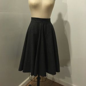 Cos Grey Flannel Skirt